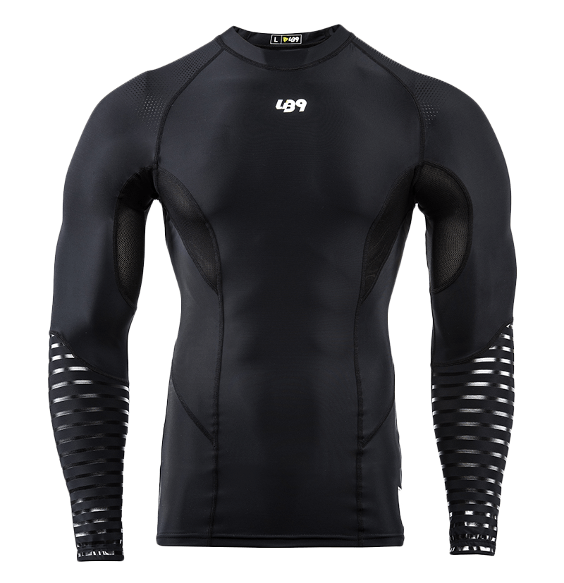 Long Sleeve Compression Rashguard Black