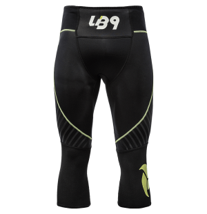 lb9 black and yellow neoprene pant