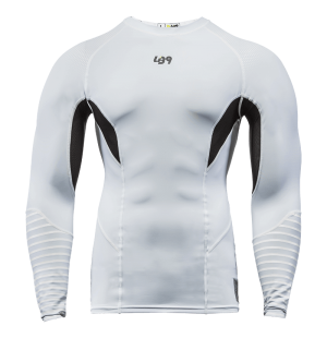 lb9 white long sleeve rashguard