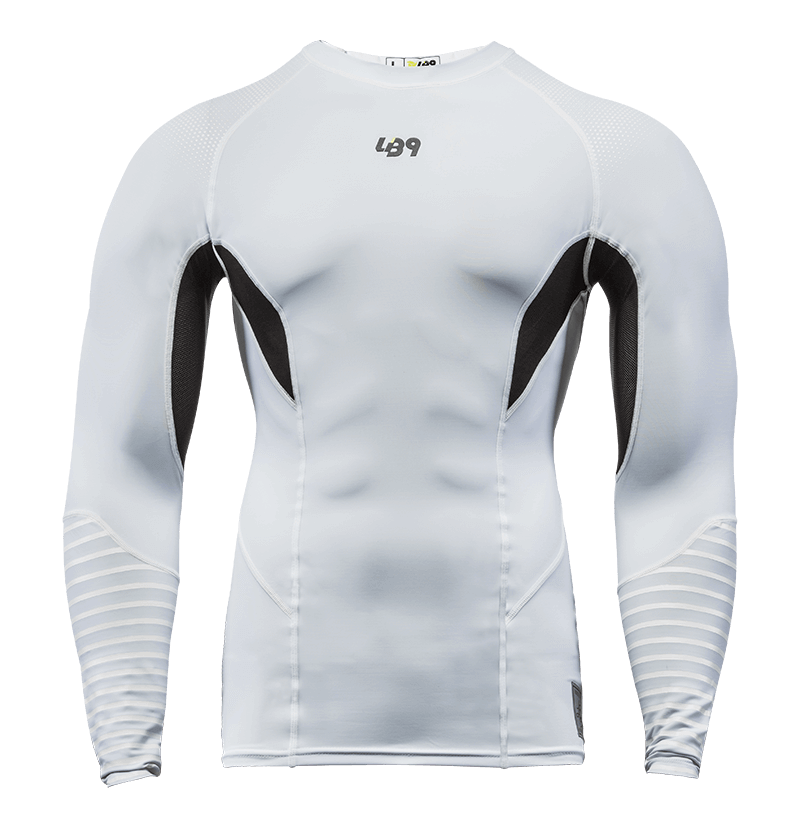 White L/S Rashguard
