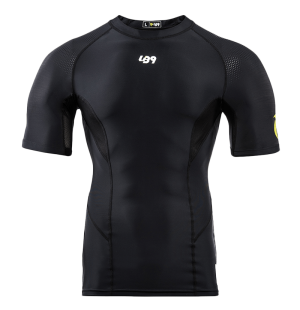 lb9 black short sleeve rashguard