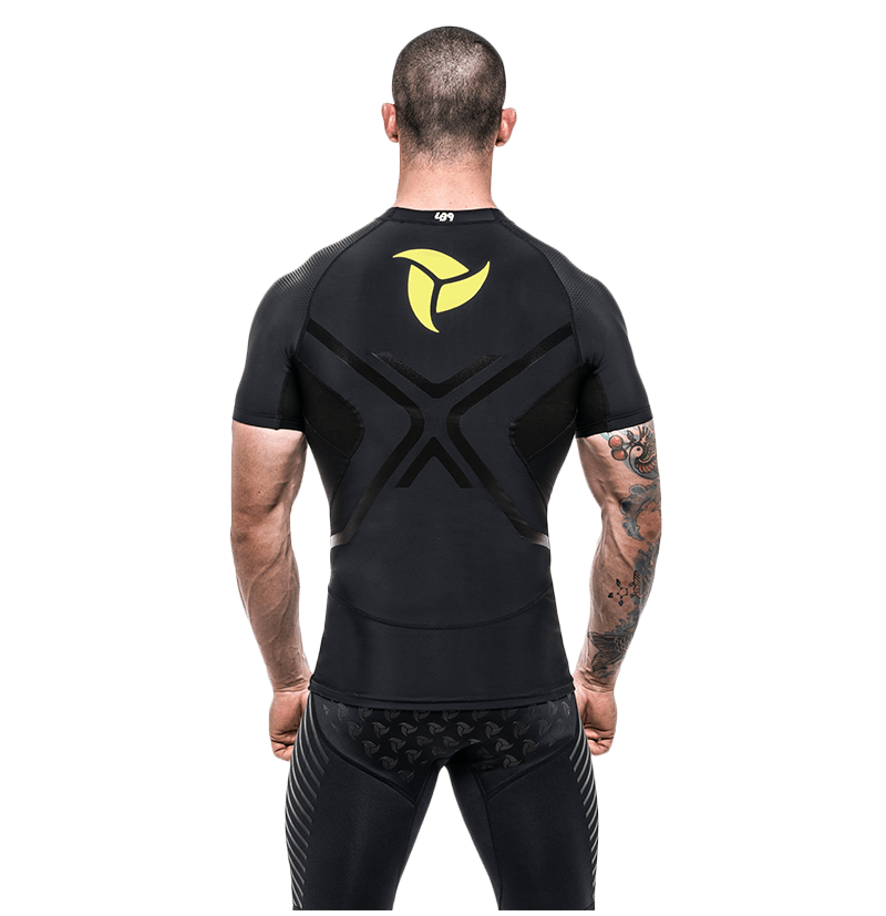 Short Sleeve Compression Rashguard Black