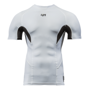 lb9 white short sleeve rashguard