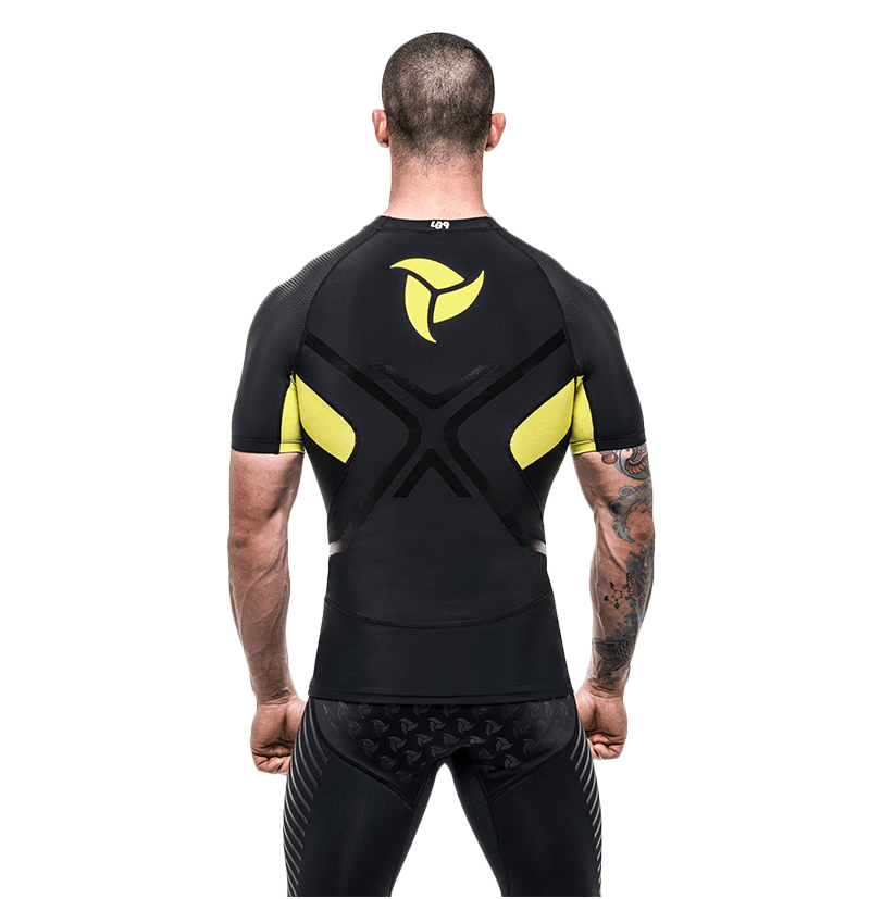 Black Yellow S/S Rash guard