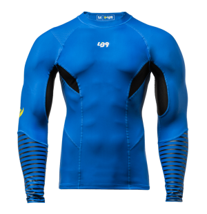 lb9 blue long sleeve rashguard