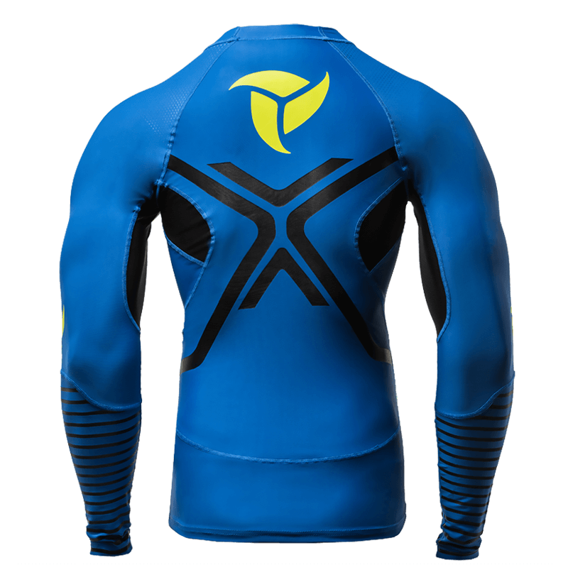 Long Sleeve Compression Rashguard Blue