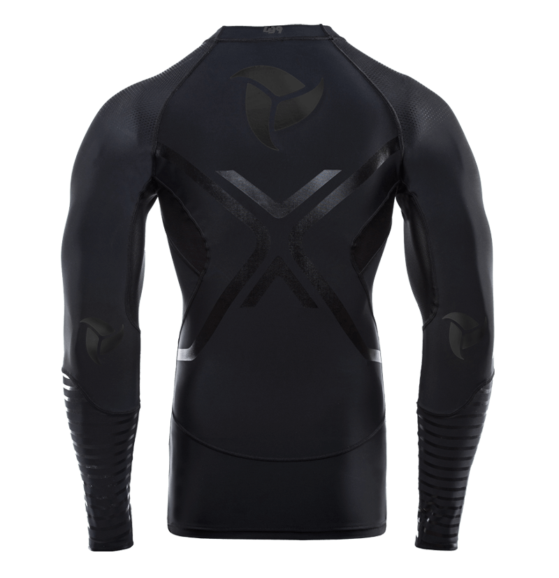TOTAL BLACK RASH GUARD L/S