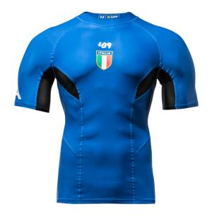 Official Italian Team Short Sleeve Compression Rashguard