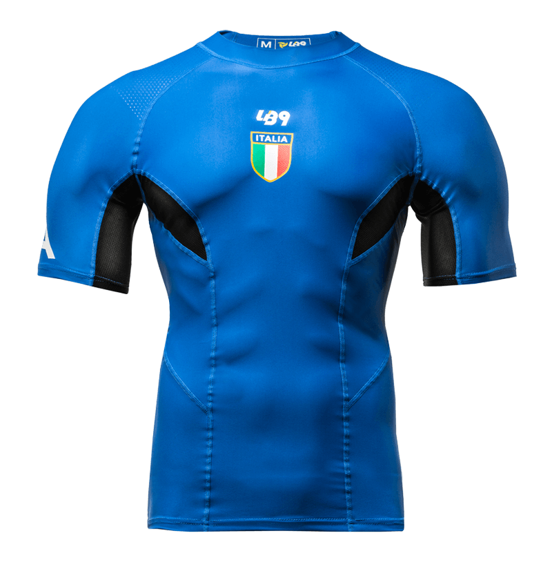 Official Italian team rash guard m/c