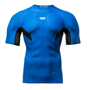 Short Sleeve Compression Rashguard Blue