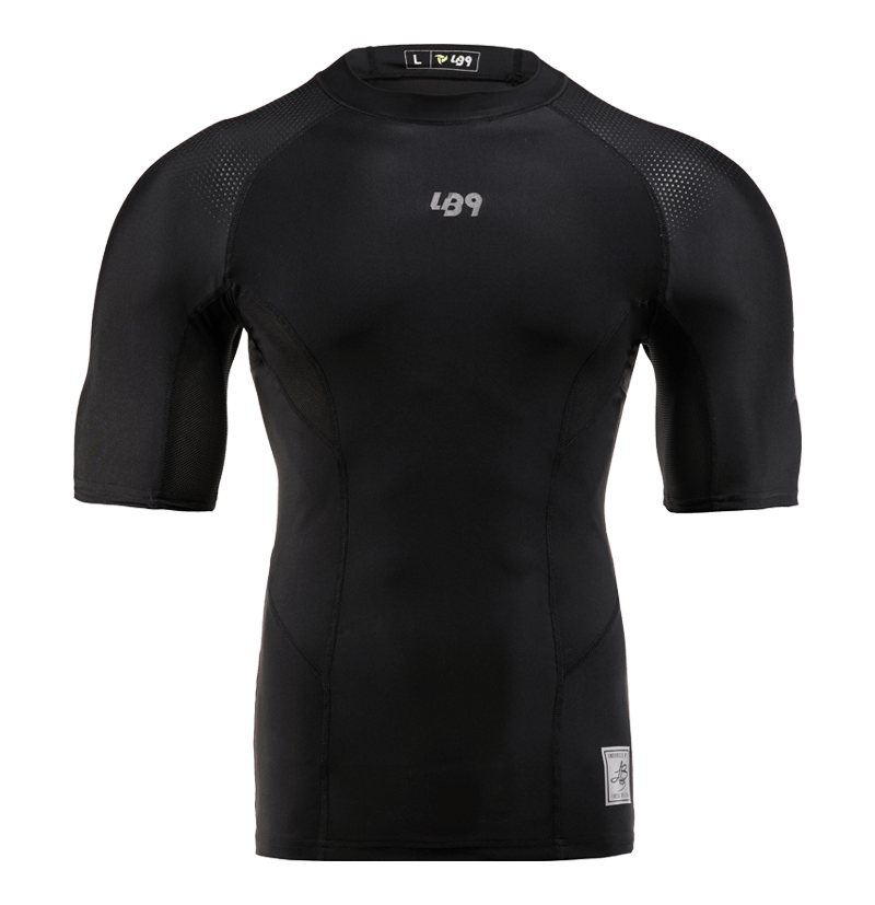 Short Sleeve Compression Rashguard Total Black