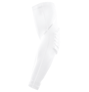 arm elbow protection shooter sleeve white