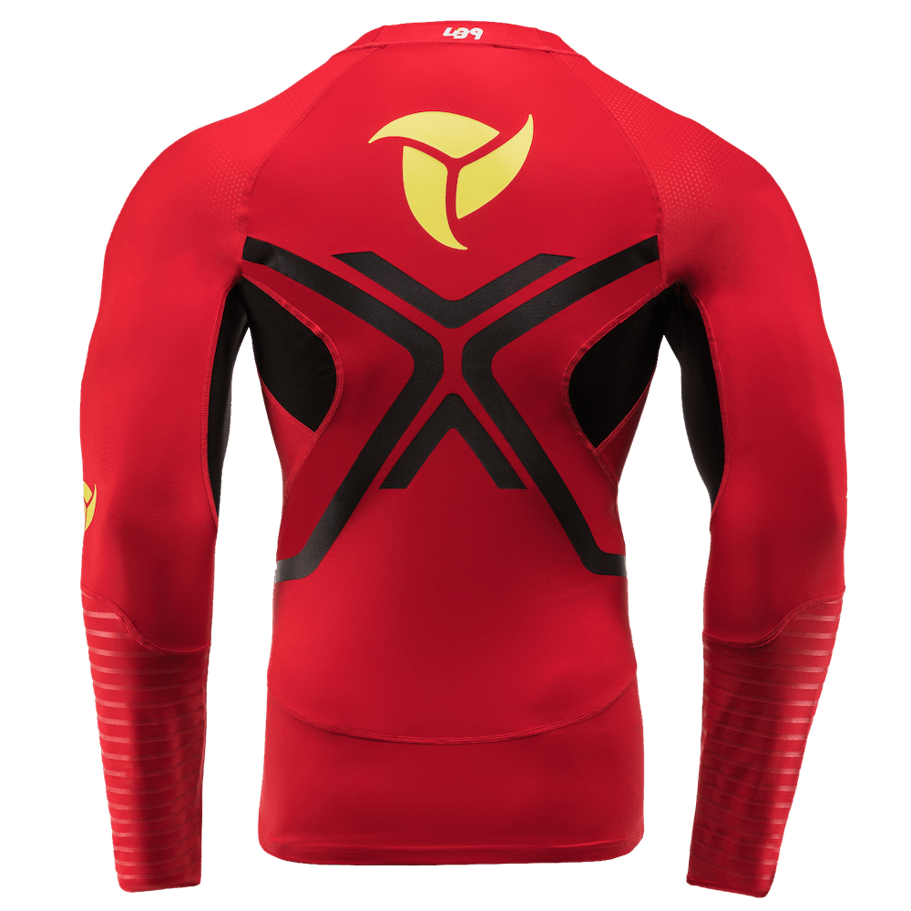 Long Sleeve Compression Rashguard Red