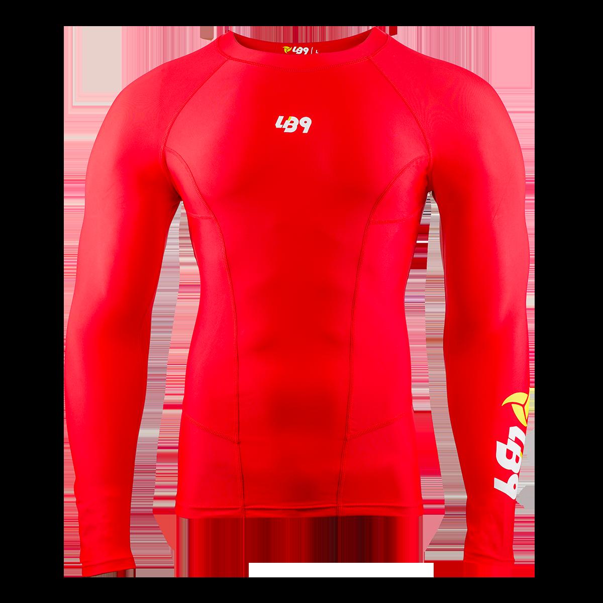 Long Sleeve Core Rashguard Red